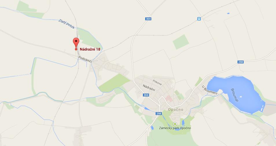 Mapa - Ing. Vidasov sklad Opočno - prodej pevných paliv